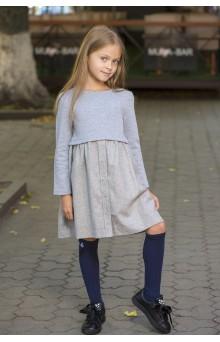 Сукня комбінована сіра