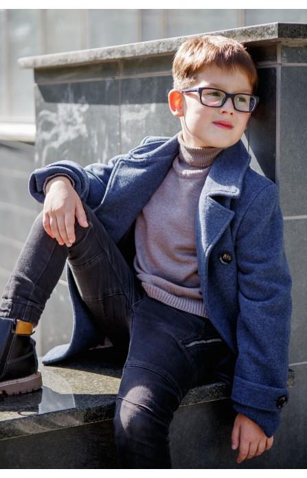 Гольф для хлопчика кольору мокко