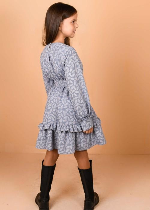 "Сукня блакитна ""Листочки"""