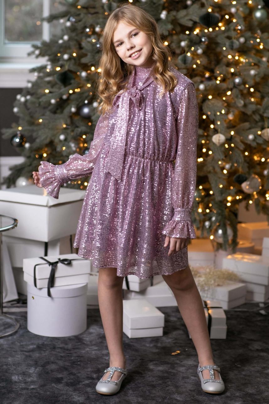 Сукня з пайєтки лілова