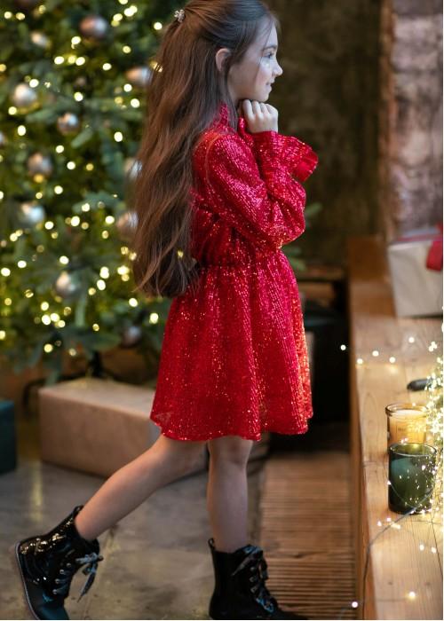 Сукня з пайєтки червона