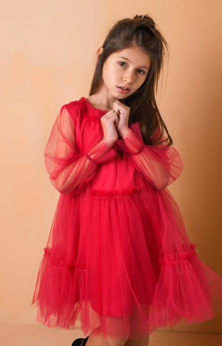 """Платье """"Fairytale"""" малиновое"""