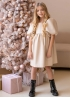 Сукня з екошкіри молочна
