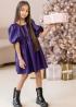 Сукня з екошкіри фіолетова