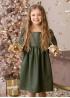 Сукня з екошкіри оливкова