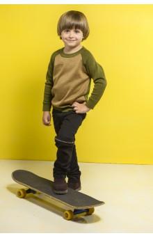 Двокольоровий джемпер для хлопчика