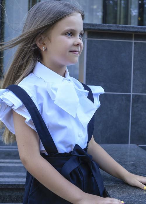 Біла сорочка з бантом