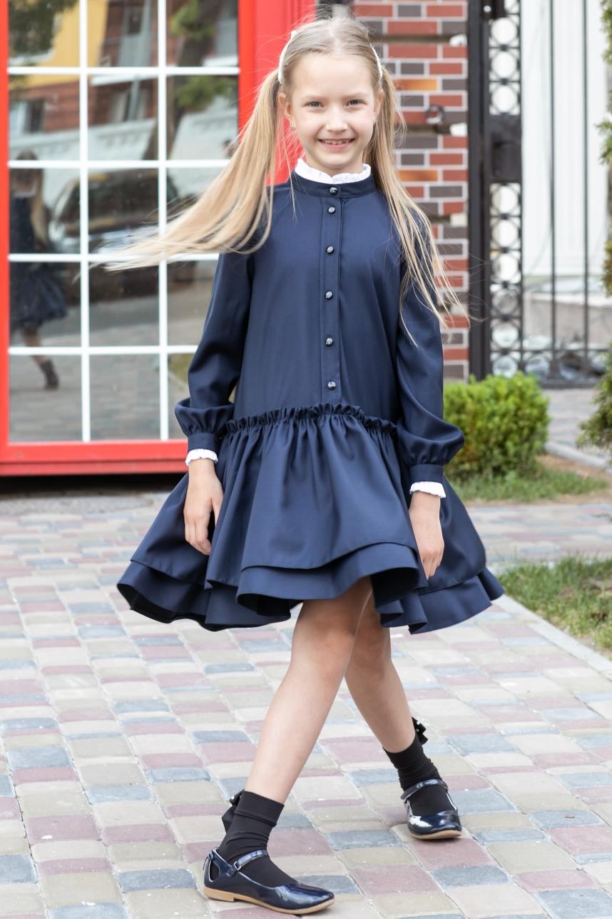 Сукня шкільна пишна (зі зйомними манжетами)