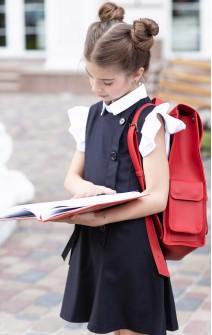 Сарафан шкільний з ґудзиками