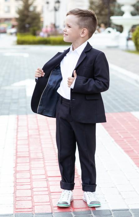 Піджак класичний cиній