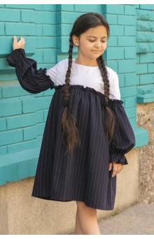 Сукня смугаста синьо-біла
