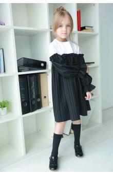 Сукня смугаста чорно-біла