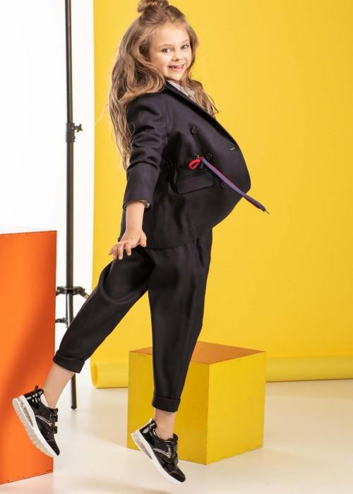 Жакет двобортний з кольоровими шнурками