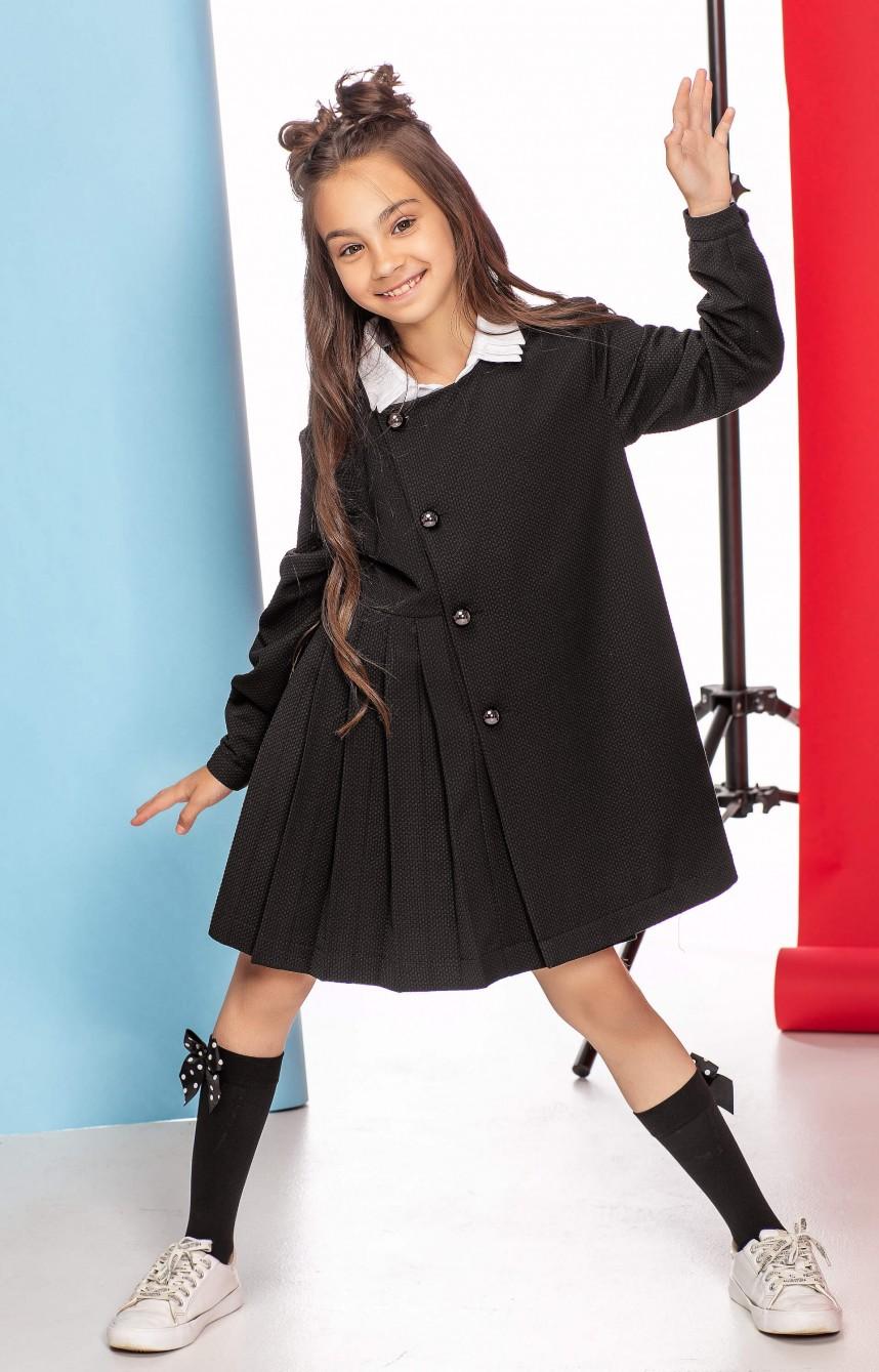 Сукня з фантазійним комірцем чорна