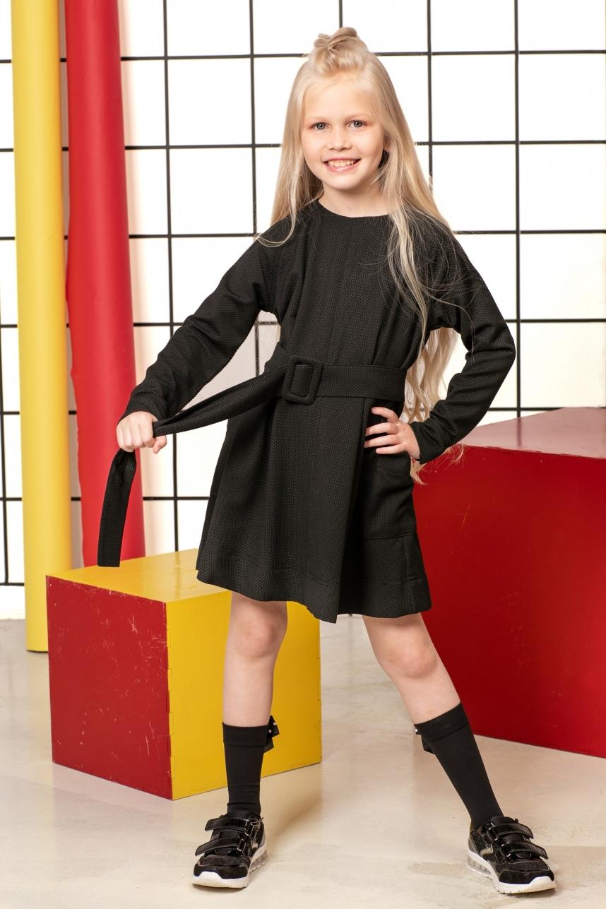 Сукня-реглан з широким поясом