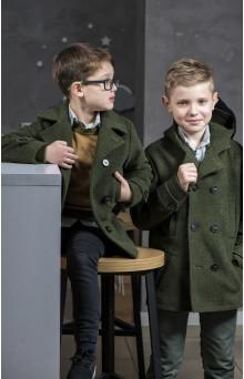 Пальто для хлопчика кольору хакі