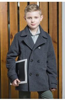 Пальто для хлопчика сіре