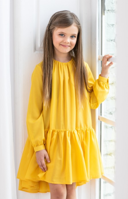 Сукня шифонова жовта