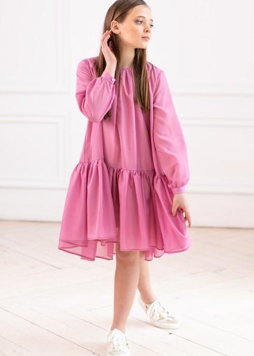 Сукня шифонова рожева