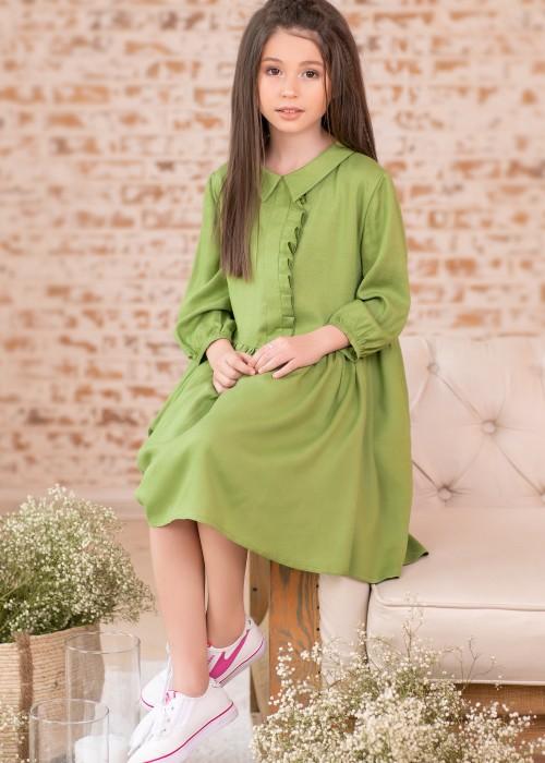 Сукня пишна оливкова