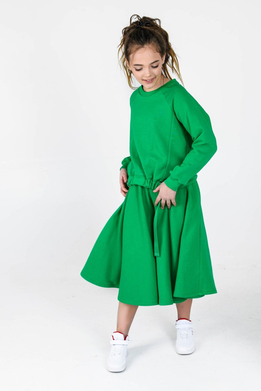 Костюм з кюлотами-сонцем зелений