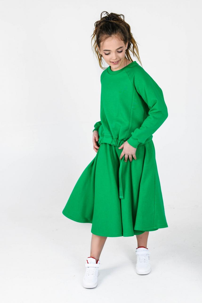 Костюм с кюлотами-солнцем зеленый