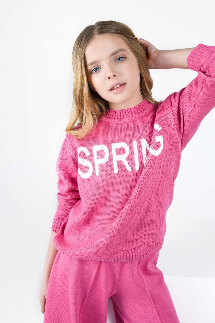 Свитер Spring малиновый