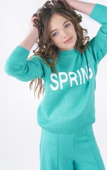 Свитер Spring бирюзовый