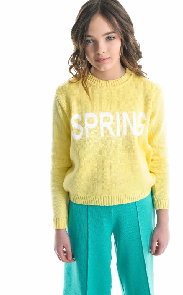 Свитер Spring лимонный