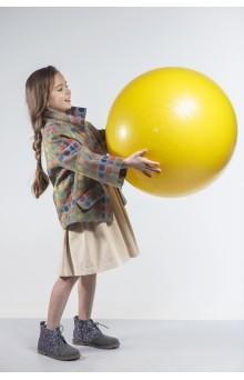 """Пальто """"Bubbles"""" оранжево-серое"""