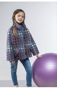 """Пальто """"Bubbles"""" фиолетово-серое"""
