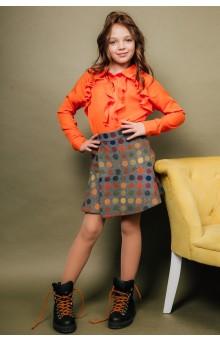 Блуза з воланами помаранчева