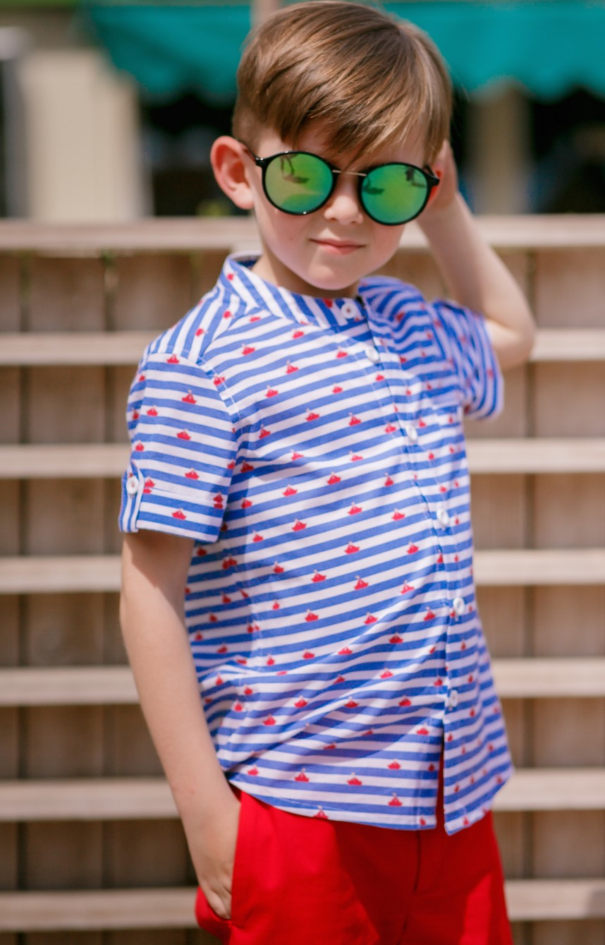 """Сорочка для хлопчика """"Кораблі"""""""