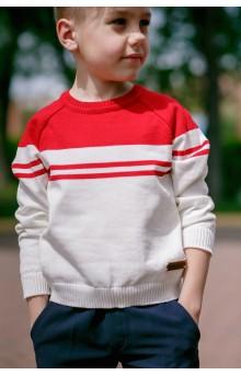 Джемпер круизный красно-белый