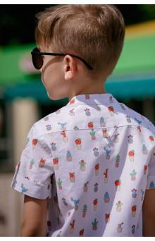 """Рубашка для мальчика """"Кактусы"""""""