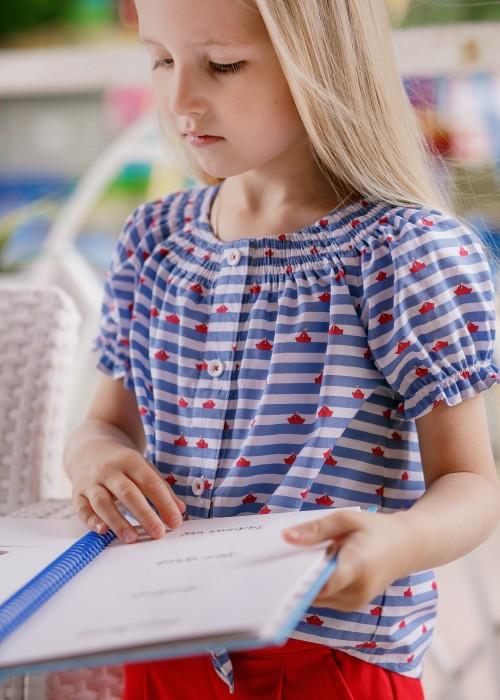"""Блуза для дівчинки """"Кораблі"""""""
