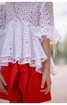 Шорти для дівчинки червоні