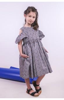 Сукня квіткова з відкритими плечами