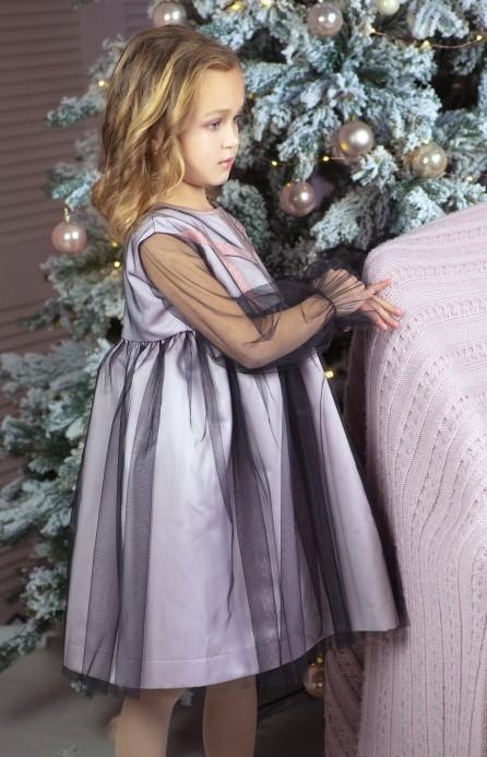"""Сукня """"Рожевий лід"""", пудрово-чорна"""