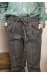 Вкорочені шерстяні брюки сірі