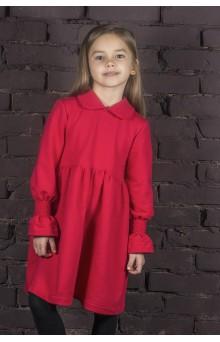 Трикотажна пишна сукня червона