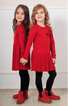 Сукня в'язана червона дитяча