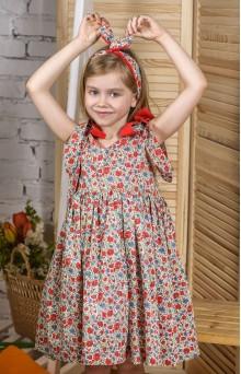 Квітковий сарафан червоний дитячий