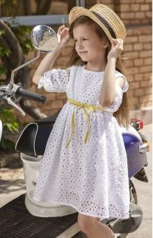Блуза для мамы и платье для дочки из белого вышитого батиста